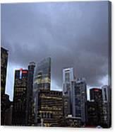 Stormy Singapore Canvas Print