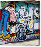 Street Art Valparaiso Chile 15 Canvas Print