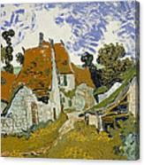 Street In Auvers-sur-oise Canvas Print
