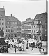 Street Market Coburg Germany 1903 Vintage Photograph Canvas Print