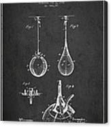Striking Bag Patent Drawing From1891 Canvas Print