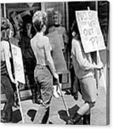 Strippers On Strike Canvas Print