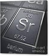 Strontium Chemical Element Canvas Print