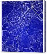 Stuttgart Street Map - Stuttgart Germany Road Map Art On Colored Canvas Print