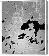 Sudbury Street Map - Sudbury Canada Road Map Art On Colored Back Canvas Print