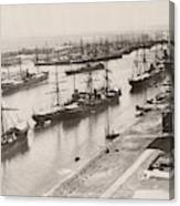 Suez Canal Port Said Canvas Print