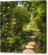 Summer Garden And Path Canvas Print