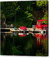 Summer Morning On Muskoka River Canvas Print