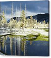 Summer Snow In Yellowstone Canvas Print