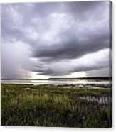 Summer Storm Over The Lake Canvas Print