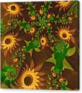 Summer's Last Sunflowers Canvas Print
