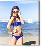 Sun Sand And Sea Leisure Canvas Print