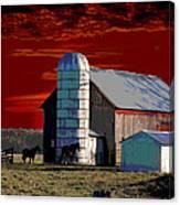 Sundown On The Farm Canvas Print