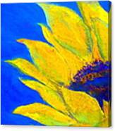 Sunflower In Blue Canvas Print