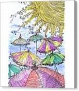 Sunny Umbrelas Canvas Print
