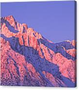 Sunrise At 14,494 Feet, Mount Whitney Canvas Print
