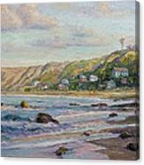 Sunrise At Crystal Cove Cottages Canvas Print