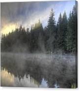 Sunrise At Trillium Lake Canvas Print