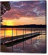 Sunrise On Keoka Lake Canvas Print