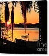 Sunrise On Lake Weir - 4 Canvas Print