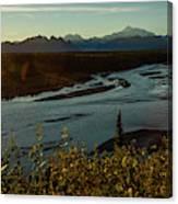 Sunrise On Mnt Denali, Trapper Creek Canvas Print