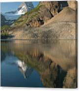 Sunrise On Mount Assiniboine In  Mount Canvas Print