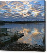 Sunrise On Silver Lake Canvas Print