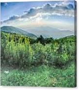 Sunrise Over Blue Ridge Mountains Scenic Overlook  Canvas Print