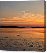 Sunset At Loch Bay Canvas Print