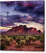 Sunset At The Superstitions  Canvas Print