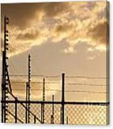 Sunset Fence Canvas Print