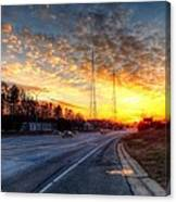 Sunset In Charlotte Canvas Print