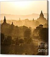 Sunset Over Bagan - Myanmar Canvas Print
