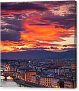 Sunset Over Florence Canvas Print