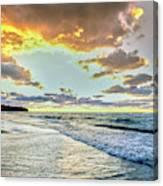 Sunset Over Lake Superior, Keweenaw Canvas Print