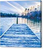 Sunset Over Lake Wylie At A Dock Canvas Print