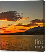 Sunset Over Mackay Reservoir Canvas Print