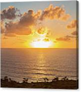 Sunset Over The Pacific Ocean, Torrey Canvas Print