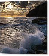 Sunset Waves Canvas Print