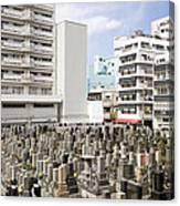 Super Dense Cemetery In Tokyo Canvas Print