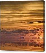 Supertanker Sunset V6 Canvas Print