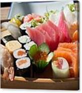 Sushi And Sashimi Canvas Print