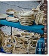 Charleston Sweet Grass Baskets Canvas Print