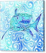 Swirly Shark Canvas Print