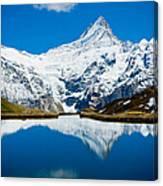 Swiss Alps - Schreckhorn Reflection  Canvas Print