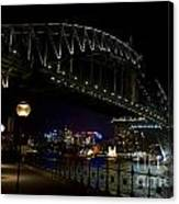 Sydney Harbor Bridge At Night Canvas Print