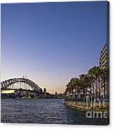 Sydney Harbour In Australia By Night Canvas Print