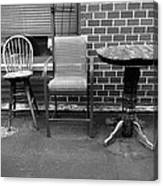 Table And Chairs Canvas Print