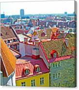 Tallinn From Plaza In Upper Old Town-estonia Canvas Print