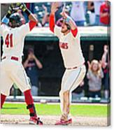 Tampa Bay Rays V Cleveland Indians 1 Canvas Print